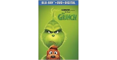 THE GRINCH Blu-ray/DVD/Digital (CASE, COVER, CODE, ALL & DISC)