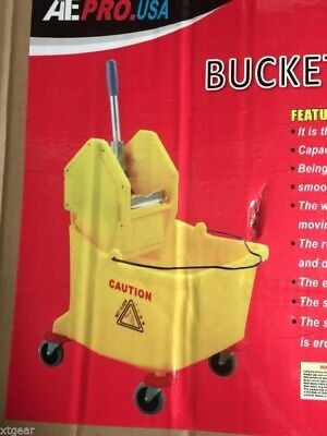 Commercial Cleaning Mop Trolley Water Bucket Restaurant Hall Floor