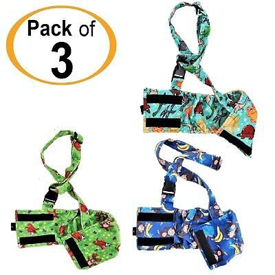 PACK -3pcs Dog BELLY BAND Wrap Diapers Male Washable SOFT Fleece SUSPENDERS XS-L