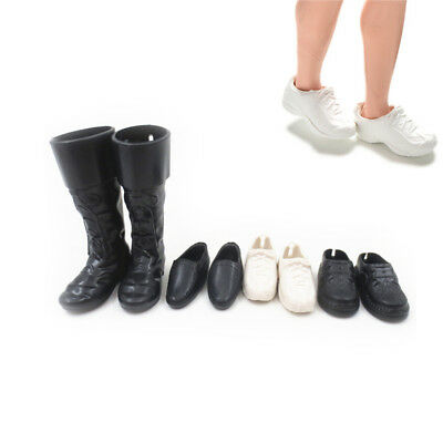 4 Pairs/Set Dolls Cusp Shoes Sneakers Knee High Boots for Boyfriend Ken3C