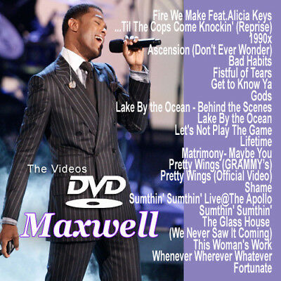 Maxwell MUSIC VIDEOS R&B SOUL DVD