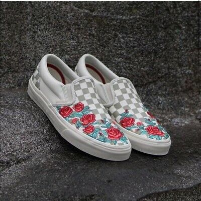 091c01f0957a Vans Classic Slip-On DX Rose Embroidery VN0A38F8QF9 New W Box DS Womens SZ  10