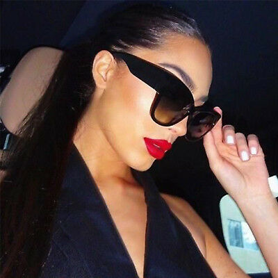 Cat Eye Stylish Big Large Oversized Women Sunglasses Retro Thick Frame Fashion