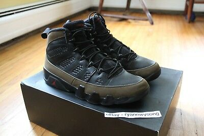 premium selection 0f771 93f61 NIKE AIR JORDAN Retro 9 Olive (2012) Size 11 Rare Sold Out Black Red Olive