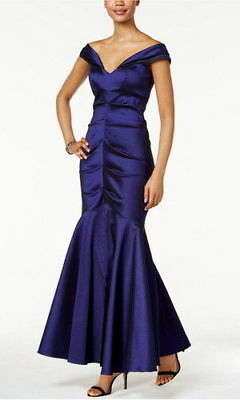 00b5f2ac Xscape Off-The-Shoulder Ruched Mermaid Gown MSRP $209 Size 4 # CN 2048