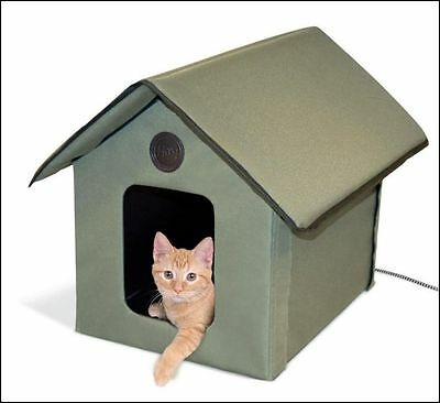 Heated Pet House For Small Pets Outdoor Bed Warmer Portable Shelter Cat Dog