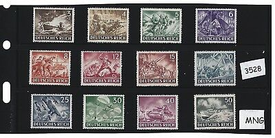 Mint-MNG  stamp set / Nazi Germany / Armed forces / Military / Complete 1943 MNG