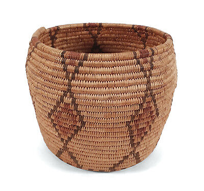 Fine Old Havasupai Native American Indian Basket Polychrome Weaving Arizona