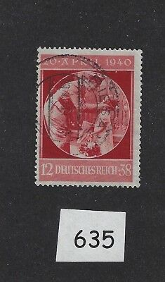 Adolph Hitler (With a Child) stamp / 1940 issue / 51st Birthday / Nice Cancelled