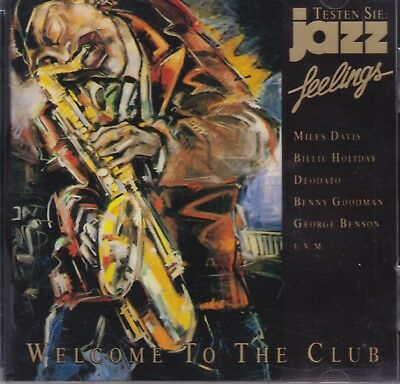 JAZZ FEELINGS- Various -WELCOME TO THE CLUB-MILES DAVIS, BILLIE HOLIDAY - NEW CD