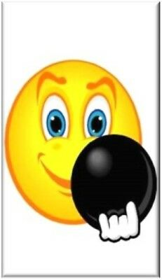 Smiley Face ~ Bowling ~ Refrigerator Magnet