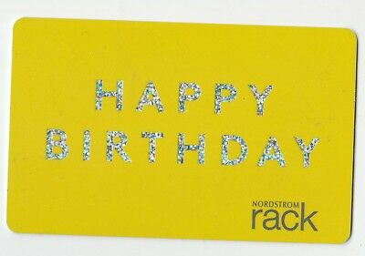 Nordstrom No Value Collectible Gift Card Mint 54 Yellow Happy Birthday