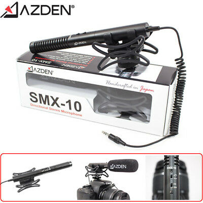 Azden SMX-10 Directional Stereo Video Microphone (3.5mm , Handcrafted in Japan)