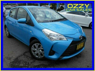 2017 Toyota Yaris NCP130R MY17 Ascent Blue Automatic 4sp A Hatchback