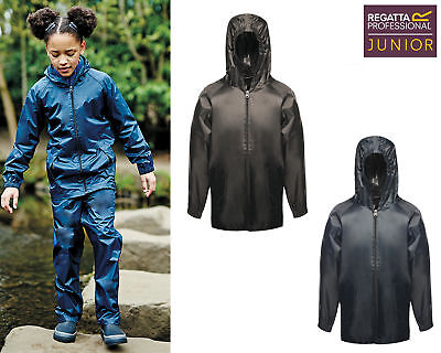 Regatta Junior Kids Pro Stormbreak Jacket TRW908 - Plain Waterproof Outerwear