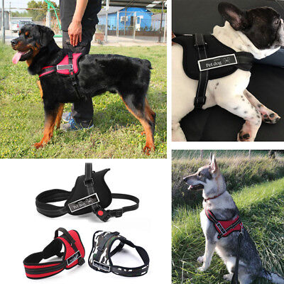 ac3855eddd2 Adjustable Pet Dog Strong Nylon Fabric Harness Vest Walking Collar Jacket  Large