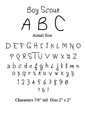 Bosskut - Boy Scout alphabet dies - lower & upper case, numbers & punctuation