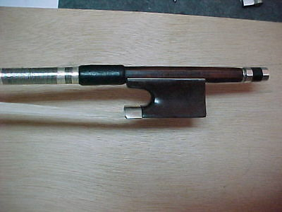 Nice Old round Violin bow stamped  PAUL BEUSHER PARIS