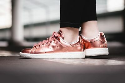 1ad0c5d24a0 Adidas Originals Stan Smith Boost ROSE GOLD Women s 8.5 Shoes Sneakers  Trainers