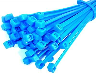 Cable ties. 200 x 4.8mm. Fluorescent. Blue. Pack of 1000. *Top Quality!
