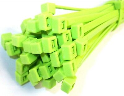 Cable ties. 300 x 4.8mm. Fluorescent. Green. Pack of 1000. *Top Quality!