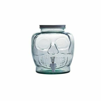 San Miguel - Spanish Recycled Glass Skull Beverage Dispenser 7.2Ltr with Spout (