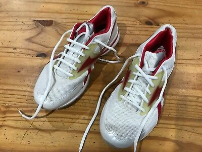 78803ef80502 Ladies Reebok Easy Tone Shape Up Trainers Size  UK 6 Red White   Silver