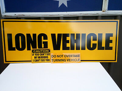 Long Vehicle Safety Sign Metal Signs 1200x450mm OFFER & Fast Delivery