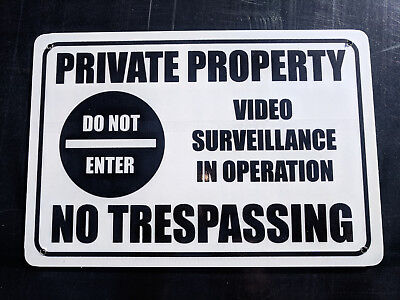 No Trespassing Private Property Pack 2 Metal Safety Sign 300x450mm FastDelivery