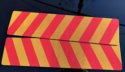 REFLECTIVE METAL SIGN Stripe Traffic for TRUCK Sign 600x150mm Pack of 2 FastPost