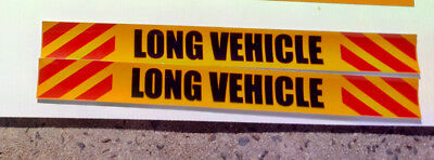 Long Vehicle REFLECTIVE (4) STICKERS Sign 400x50mm COMPLIANT