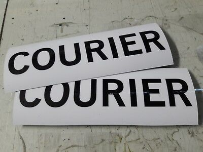 COURIER Car Magnets Pack 2 Stickers Magnet 250x90mm Strong Removable Magnet