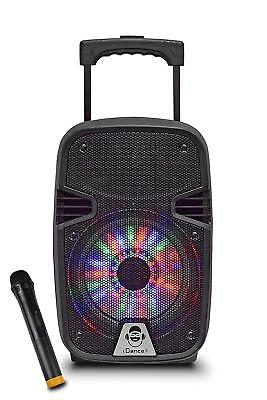 iDance Groove 210 Portable Trolley Bluetooth Speaker Wireless Party System Mic