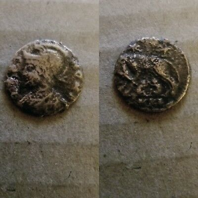 Ancient Roman coin, Urbs Roma Commemorative, 330 - 340 AD. She-Wolf and twins