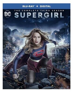 Supergirl: The Complete Third Season 3 (Blu-ray+Digital) Sealed and Brand New
