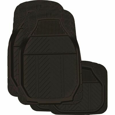 Ridge Ryder Deep Dish Rubber Floor Mats - Black, 4 Pack
