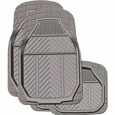 Ridge Ryder Deep Dish Rubber Floor Mats - Charcoal, 4 Pack