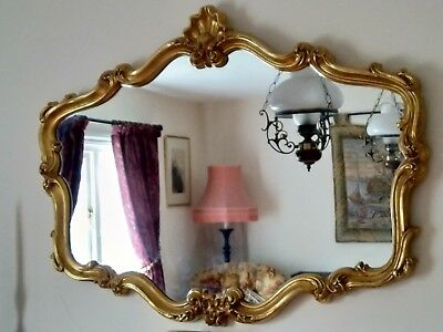 Large Ornate Gold Antique Style Wall Mirror 104cm x 80cm
