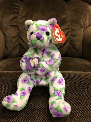 c76f65aac82 TY Beanie Baby - CORSAGE the Bear (7 inch) - MWMTs Stuffed Animal Toy