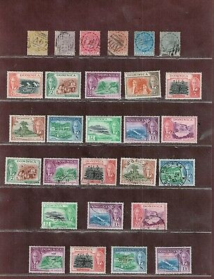Dominica 1870-1980 Early to modern collection incl Q. Vict. & Omnibus sets U & M