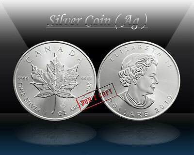 CANADA $ 5 DOLLARS 2019 ( MAPLE LEAF ) SILVER 1oz coin (Ag 999/1000) UNC