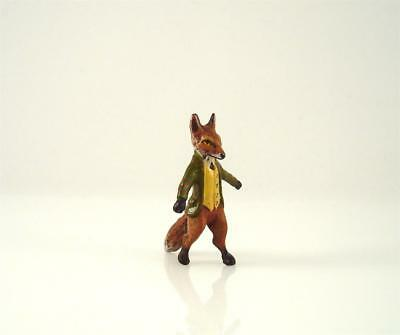Franz Bergmann Vienna Mr. FOX in Suit Beatrix Potter Cold Painted Bronze