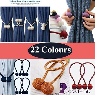 💙Magnetic Ball Curtain Tiebacks Tie Backs Buckle Clips Holdbacks 17-Colours UK