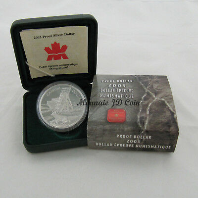 2003 Canada Colbalt Discovery Centennial Proof Silver Dollar Coin Tax Exempt