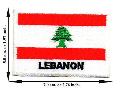 Lebanon Travel Flag Nation Country Sport DIY Applique Iron on Patch Sew Crafts