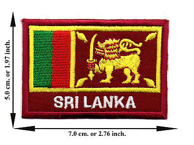 Sri Lanka Travel Flag Nation Country Sport DIY Applique Iron on Patch Sew Crafts