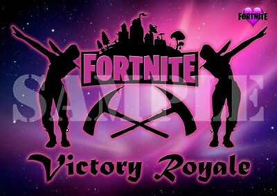 FORTNIGHT poster / wall art - 'Victory Royale' - A4 (297mm x 210mm)