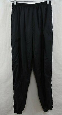NIKE - Mens L - BLACK Soft Lined Nylon Wind Warm-up Athletic Pants