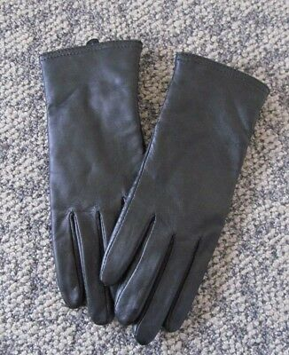 Women's S Black Leather Gloves Thinsulate Insulation 40 gram New NWOT