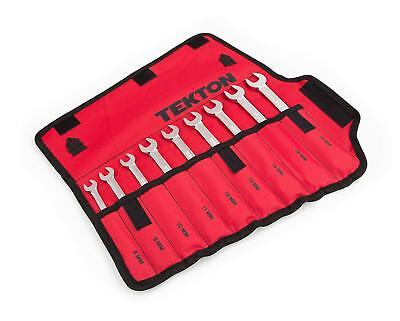 9 Pc Flex Head Combination Wrench Set with Storage Pouch Metric 8-16mm TEKTON
